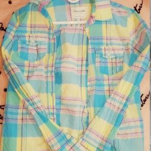 Aeropostale Women's Plaid Button Up Shirt